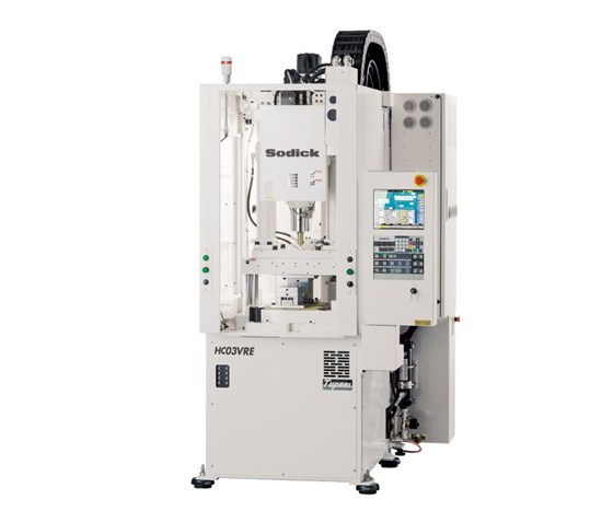 Sodick Plustech vertical micro injection molding machine