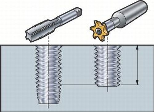 tapping vs thread milling