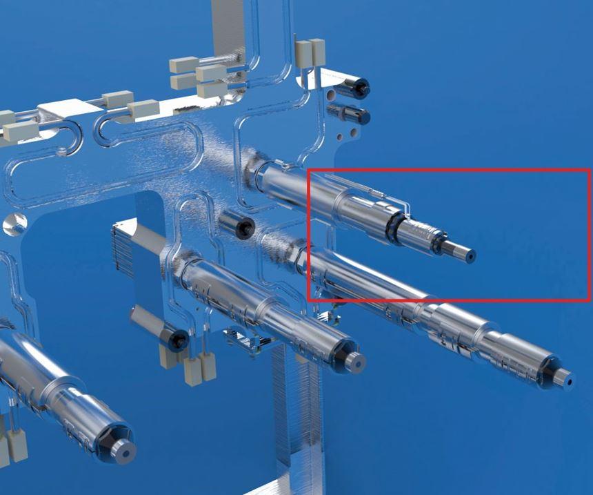 Plastic Service Group (PSG) reflector nozzle