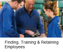 Finding, training and retaining employees