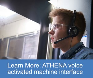 Makino Athena voice activated machine interface