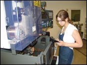 Marina Cricun, a manufacturing technology senior