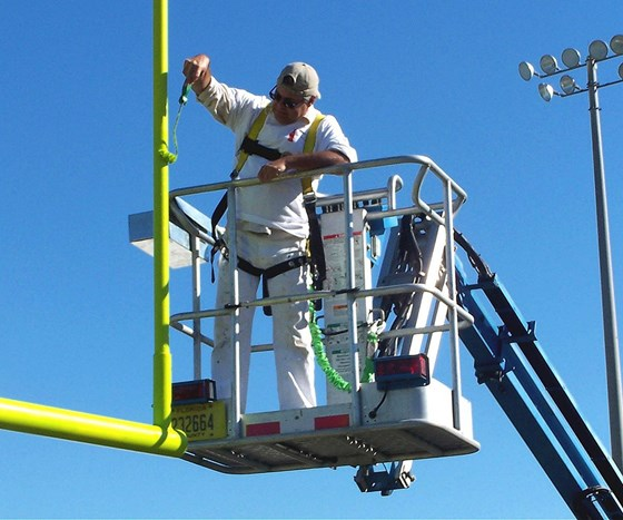 Marion County Schools apply NeverFade coatings in Ocala, Florida.