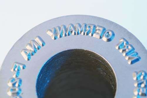 Marking die for roller bearings