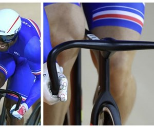 French Olympic cyclists with 3D-printed handlebars