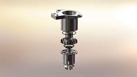 Can filler valve CAD rendering