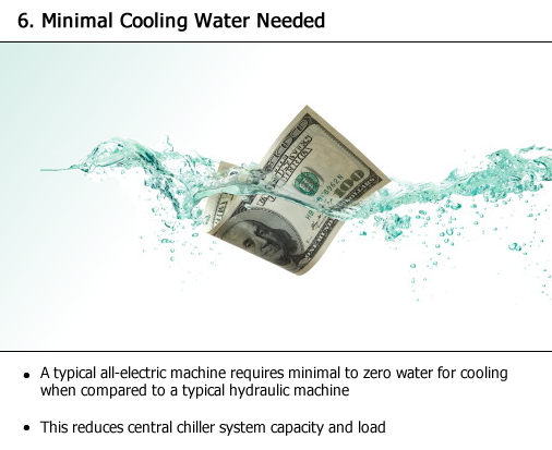 Minimal cooling water needed