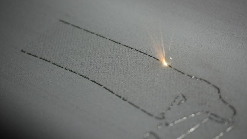 LaserCusing process shot