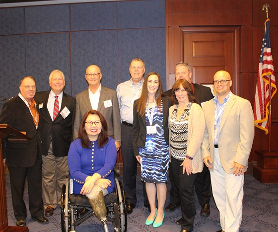 NASF Illinois Delegation with U.S. Senator Tammy Duckworth.