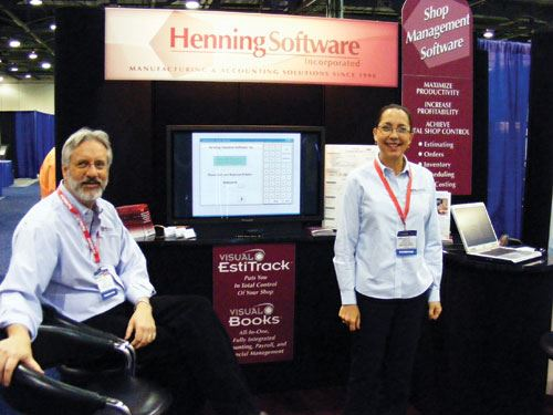 Henning trade show booth