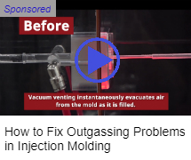Mold-Vac vacuum venting for injection molding
