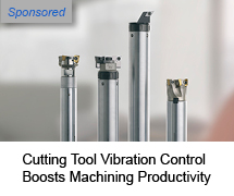 Cutting tool vibration control boosts machining productivity