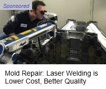 Pulsed Laser welding for repair of plastics molds