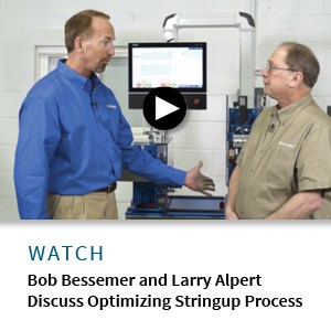 Bob Bessemer and extrusion expert talk stringup process of pull/cutter