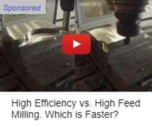 High Efficiency vs. High Feed Milling