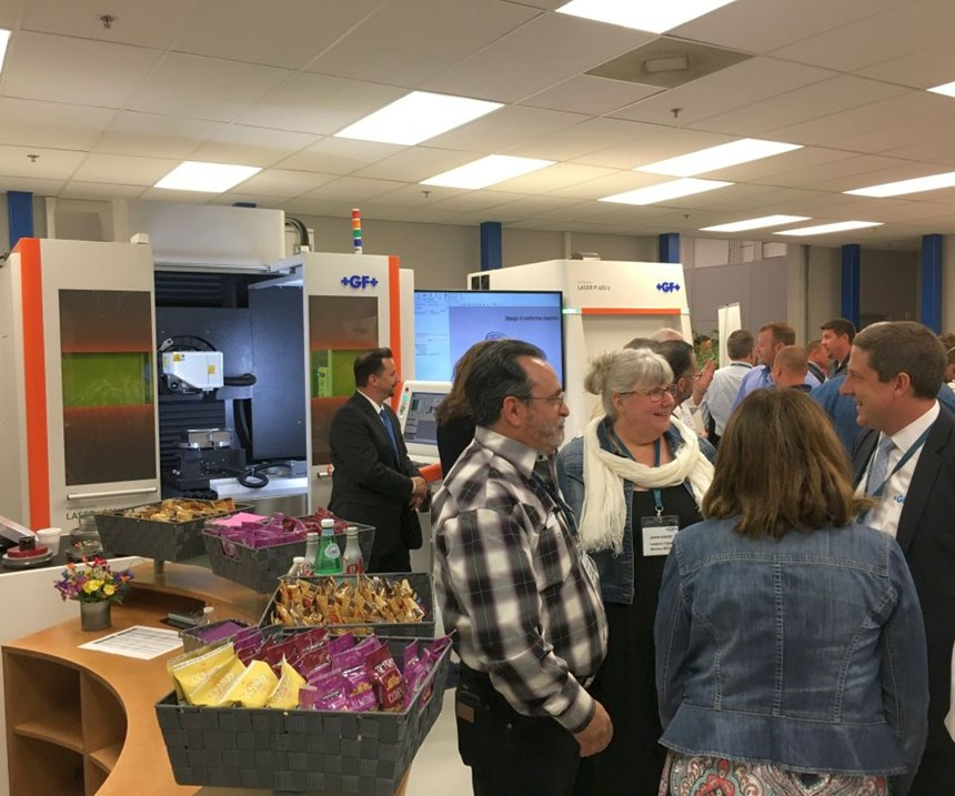 crowds at GF Machining Solutions' open house