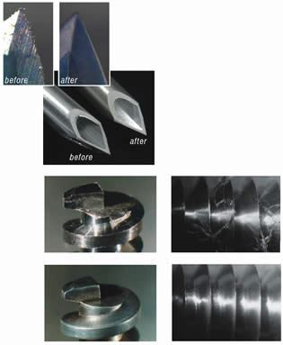 Non-contact, small-parts finishing process