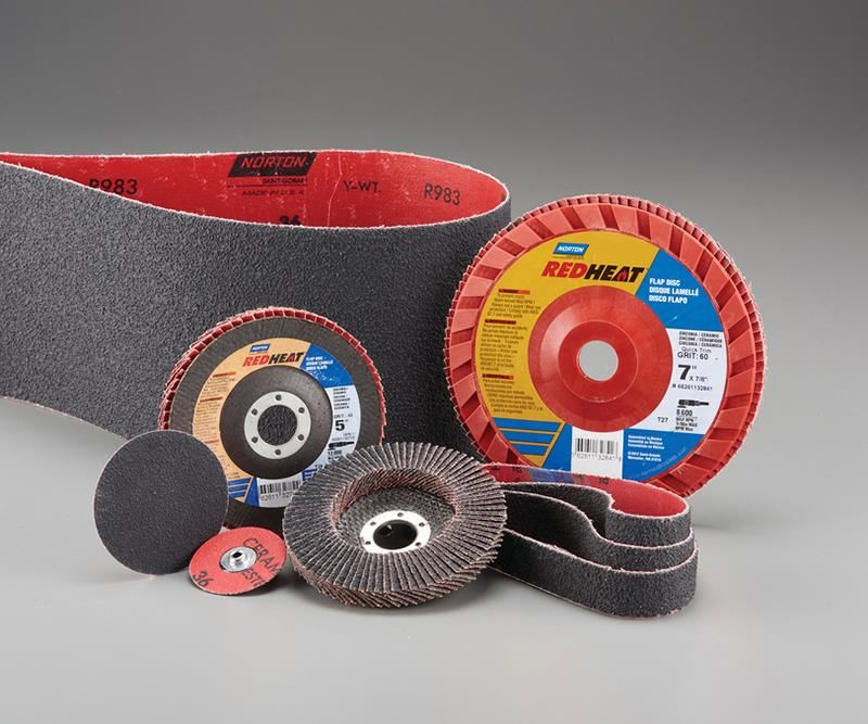 Norton Red Head Abrasive Belts and Discs