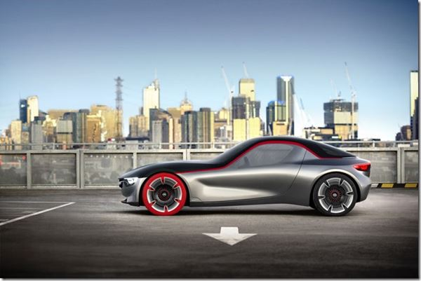 Opel GT Concept and Real Red Tires image