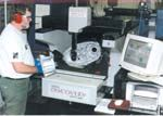 Operator Jerry Green uses this CMM