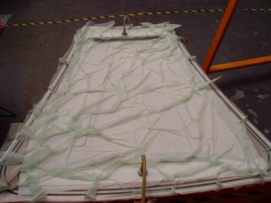 Step 5 - bagged hood layup