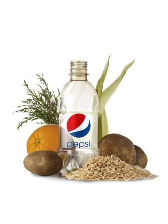 PepsiCo BioPET bottle of 100% renewably based PET.