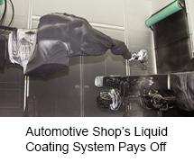 Automotive Shop's Liquid Coating System Pays Off