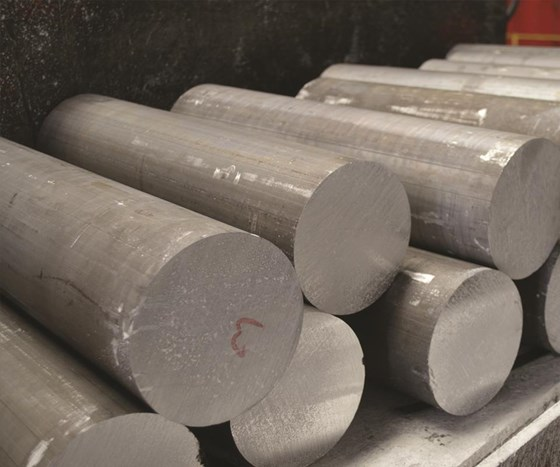 Before any product gets to the large coating facility at the plant, it starts out as a billet  of aluminum.