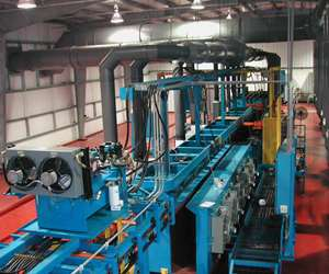 Fanta Equipment Co.'s high-production, return-type, automated zinc line is designed to produce 60 to 100 racks an hour.
