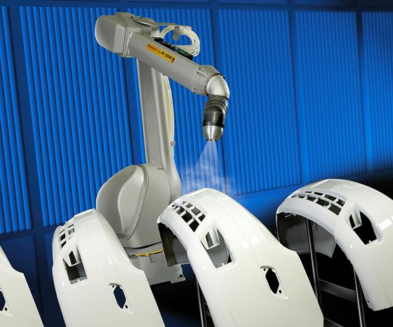 FANUC America marks the 35th anniversary of manufacturing its line of painting robots at the company's Rochester Hills, Michigan, headquarters