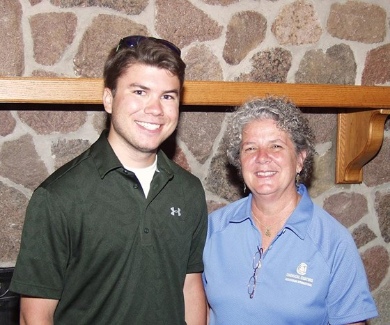 Ryan Roesler, national CCAI scholarship winner with Executive Director Anne Goyer.