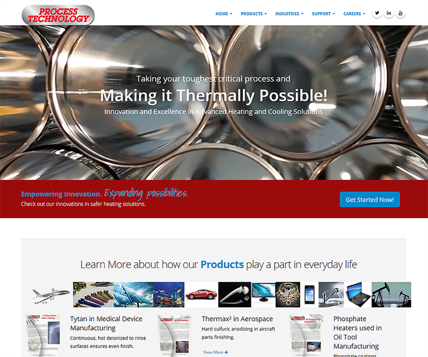 Process Technology introduces a new look online