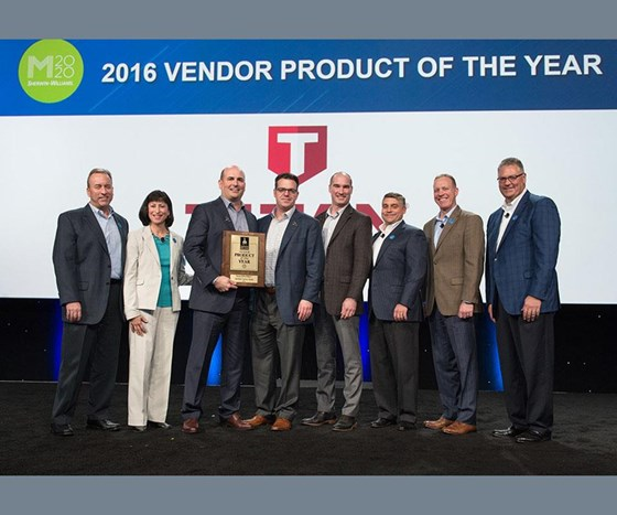 The award was presented to Titan representatives in late January during a ceremony at Sherwin-Williams Paint Stores Group National Sales Meeting in Orlando, Florida.