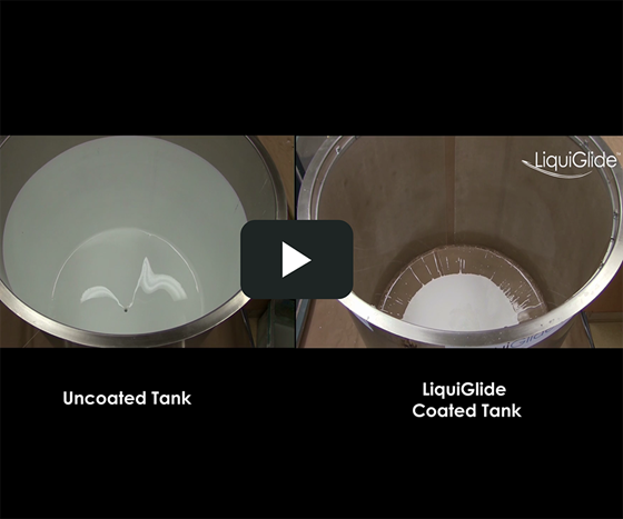 LiquiGlide tank coating is designed to simplify cleaning and minimizes waste.