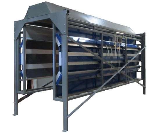 Custom vertical infrared oven from Blasdel Enterprises.