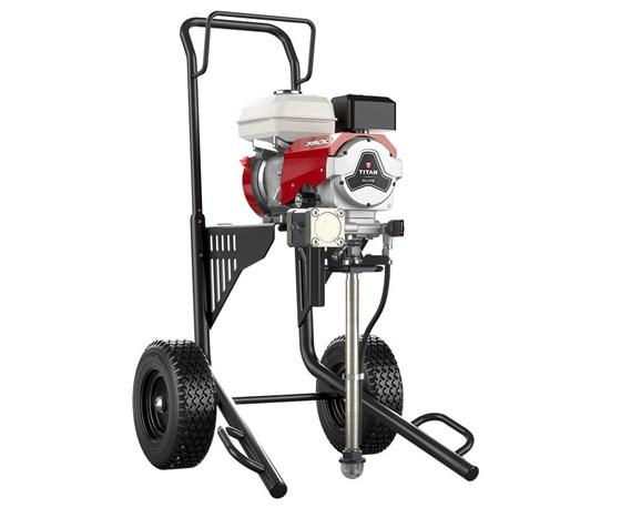 Titan's Elite 3500 gas-powered, sealed hydraulic paint sprayer.