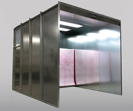 Spray-to-waste powder booth from Rohner.