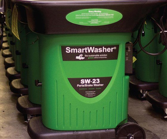 Chemfree SmartWasher, bioremediating parts washer.
