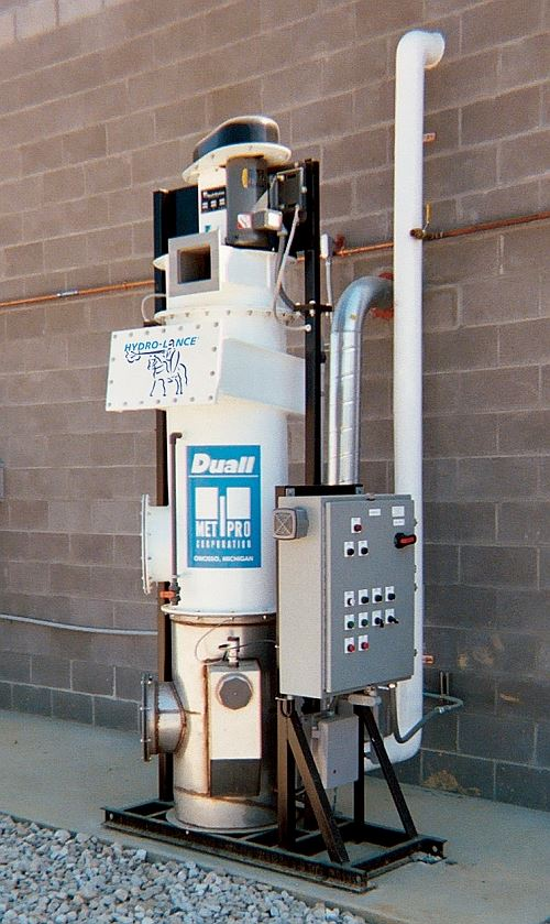Hydro-Lance wet particulate dust collector