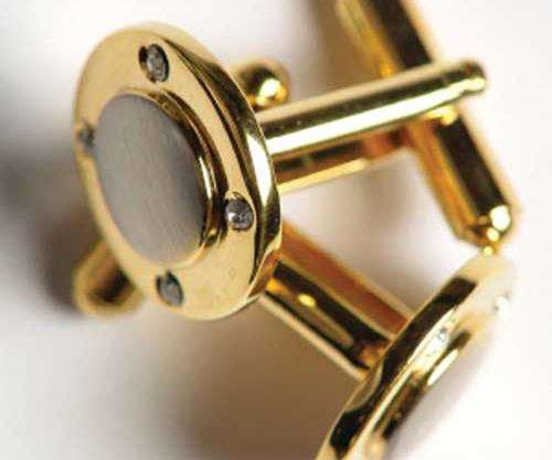 Gold-plated cufflinks