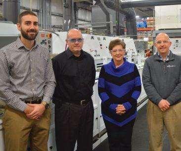 From left, Matt Payne, Jeff Smith, Mary Gordon and Darren Habig lead Electro-Spec's operation.