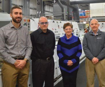 From left, Matt Payne, Jeff Smith, Mary Gordon and Darren Habig lead Electro-Spec's operation.
