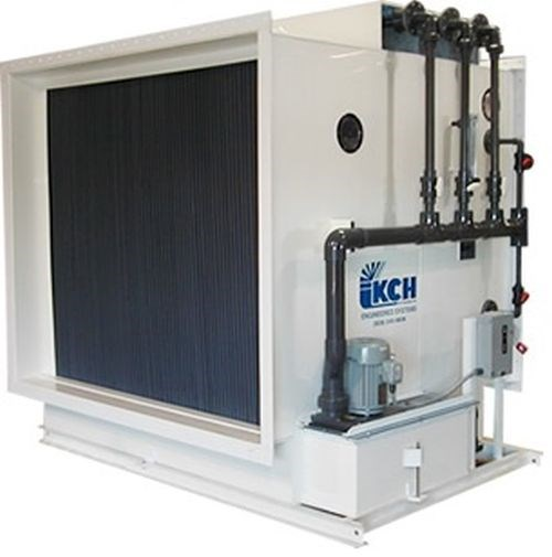 corrosion-resistant wet fume scrubbers and exhaust blowers