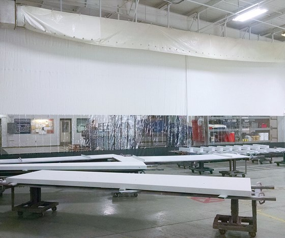Global Finishing Solutions' curtain walls and dividers.