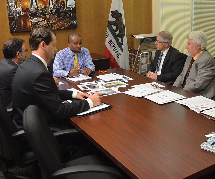 Members of the NASF California chapters visit with members of their state legislature to discuss issues facing the finishing industry.