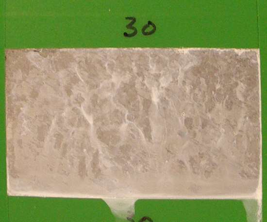 1407 hours: Corrosion test panels of brush plated zinc-nickel LHE with a trivalent conversion coating.