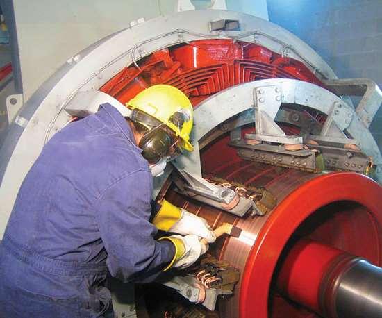 Integrated Power Services uses selective brush plating for turbine repairs.
