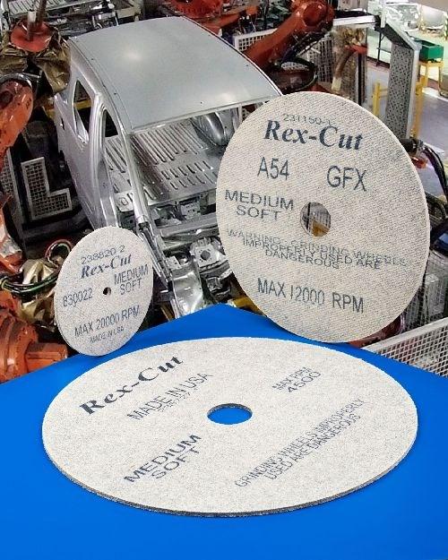 Rex-Cut Abrasives Type 1 nonwoven cotton fiber abrasive wheels