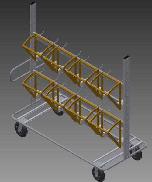 American Finishing material handling cart