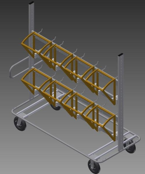 American Finishing material handling cart
